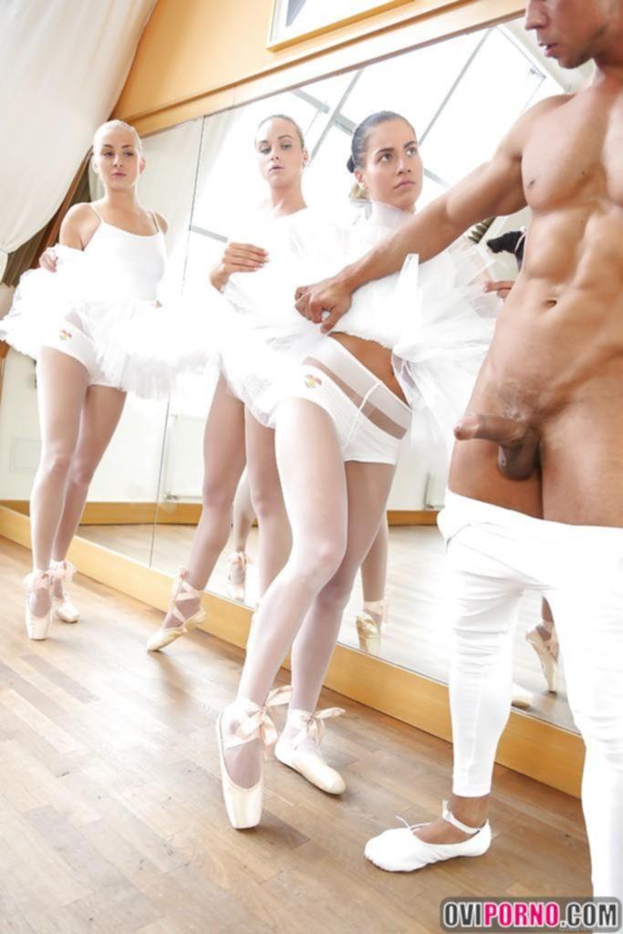 Секс с тремя балеринами